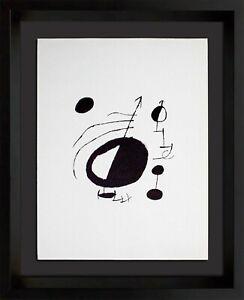 Joan MIRO Original LTD Lithograph Watermark Guarro Paper w/Custom FRAME