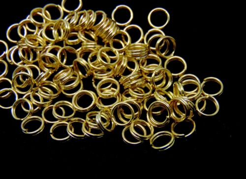 100 x 5mm Gold Plated Split Rings Jewellery Craft Findings FREE UK P+P F169
