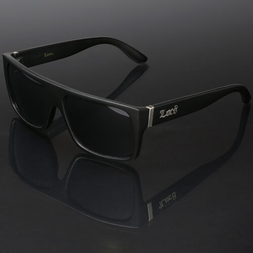 Black Locs Square Men Flat Top Dark Sunglasses Cholo Gangster Hardcore Shades