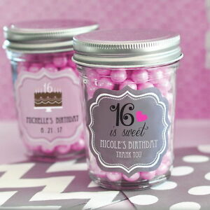 Image Is Loading 24 Personalized Sweet 16 15 Birthday Theme Mini