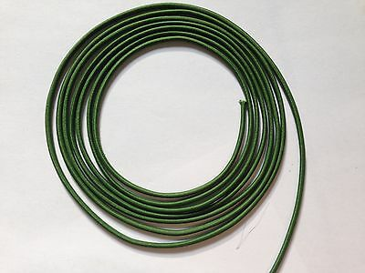"3mm 1/8"" ELASTIC CORD black royal blue green grey olive navy  3 10 20 yds"