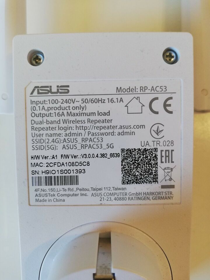 Repeater, wireless, Asus