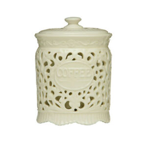 21134e2b3ce4 Image is loading Premier-Cream-Ceramic-Coffee-Canister-Jar-Storage-Pot-