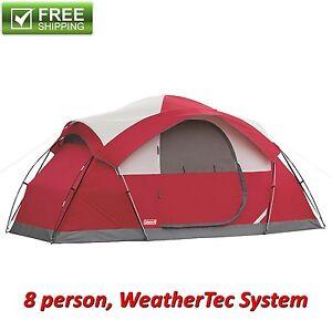 Coleman 8 person tent waterproof weathertec all season camping hiking