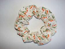 Orange tulips floral fabric hair scrunchie spring flowers tulip new scrunchies
