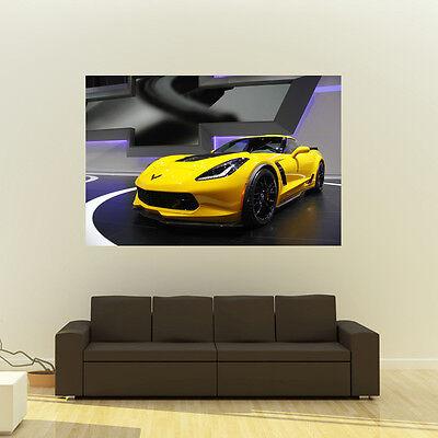 Chevy C7 Z06 Corvette Giant Poster Huge 54x36 Inch Print 137x91 cm