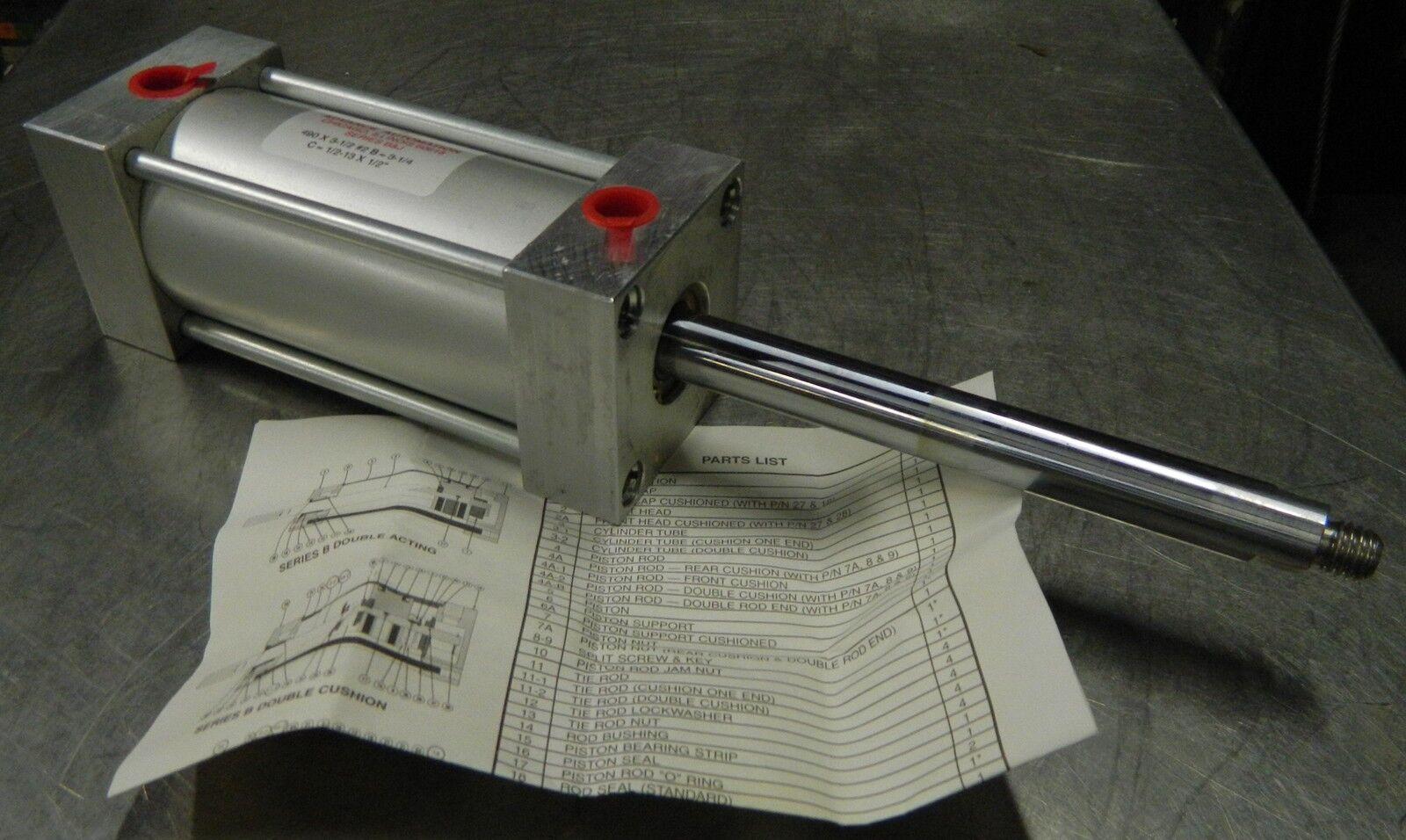 NIB NEW AAC Advance Automation Pneumatic Cylinder B490 x 3-1//2 WARRANTY