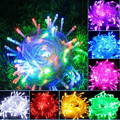 MultiColor Xmas 1/2/3/5/10M LED Silver Copper Cable Wire Fairy Light String Lamp