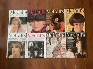Vintage McCall's Magazines 1966 Lot of (8) Batman October 1966 Fantastic Ads!
