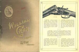 Details about William Grah c1928 Gun Catalog, Liege, Belgium