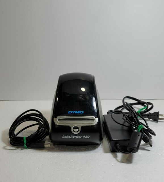 Dymo LabelWriter 450 1750110 Thermal  Label Printer Black/Silver With Cords.