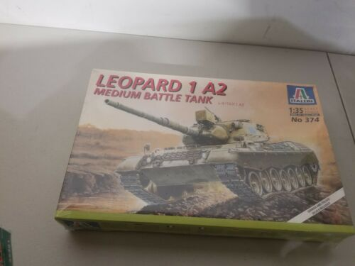 Italeri 1//35 Leopard 1 A2 Medium Battle German Tank Model Kit 374