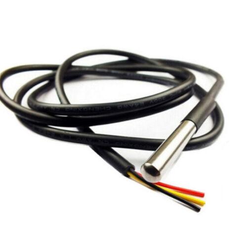 1-10 PCS Wasserdicht Digital Thermal Sonde or Sensor DS18B20 Length:1M AHS