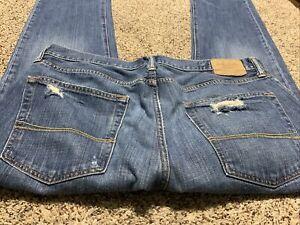 Abercrombie Fitch Remsen Ajustado Recto Pantalones Vaqueros Del Disenador Para Hombre Talla 36x32 Ebay
