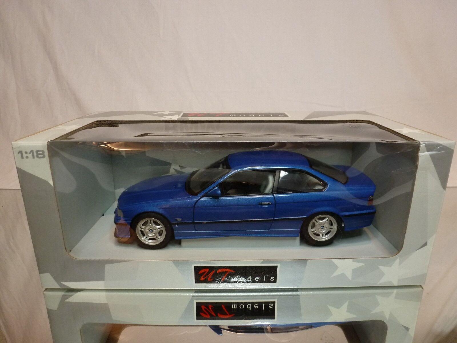 Modelo ut 1  18 BMW m3 coupe - - - Metal azul - BOX 32b