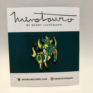Details about MINOTAURO - EMERALD Hard Enamel Pin Badge