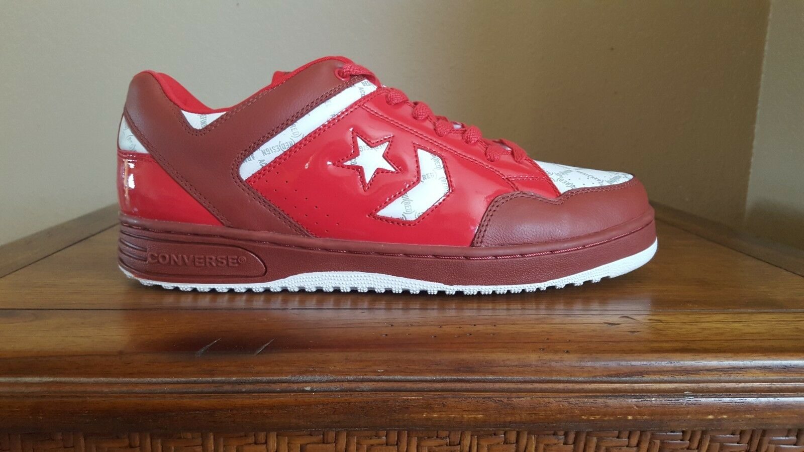 Converse Basketball Weapon Red/White Low Basketball Converse Shoes Size 12 6b8632