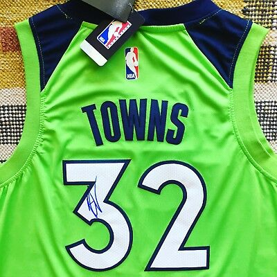 Karl Anthony Towns Signed Autograph Minnesota Timberwolves Jersey