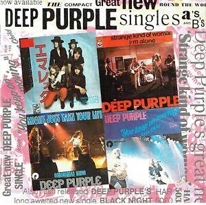(CD) Deep Purple - Singles A's & B's - Smoke On The Water, Black Night, Fireball
