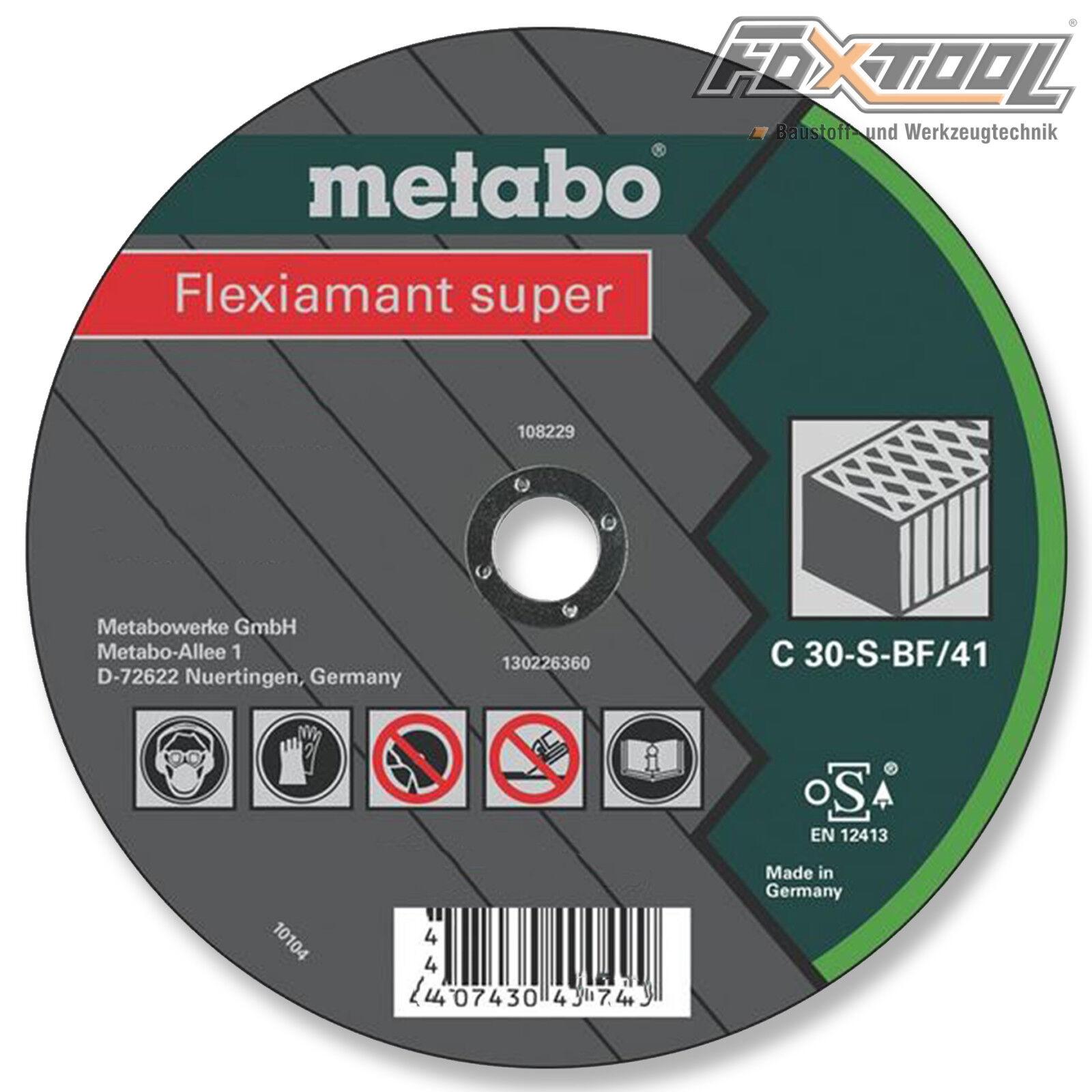 Metabo Flexiamant super 230x3x22,2 Stein  Trennscheibe Naturstein Beton