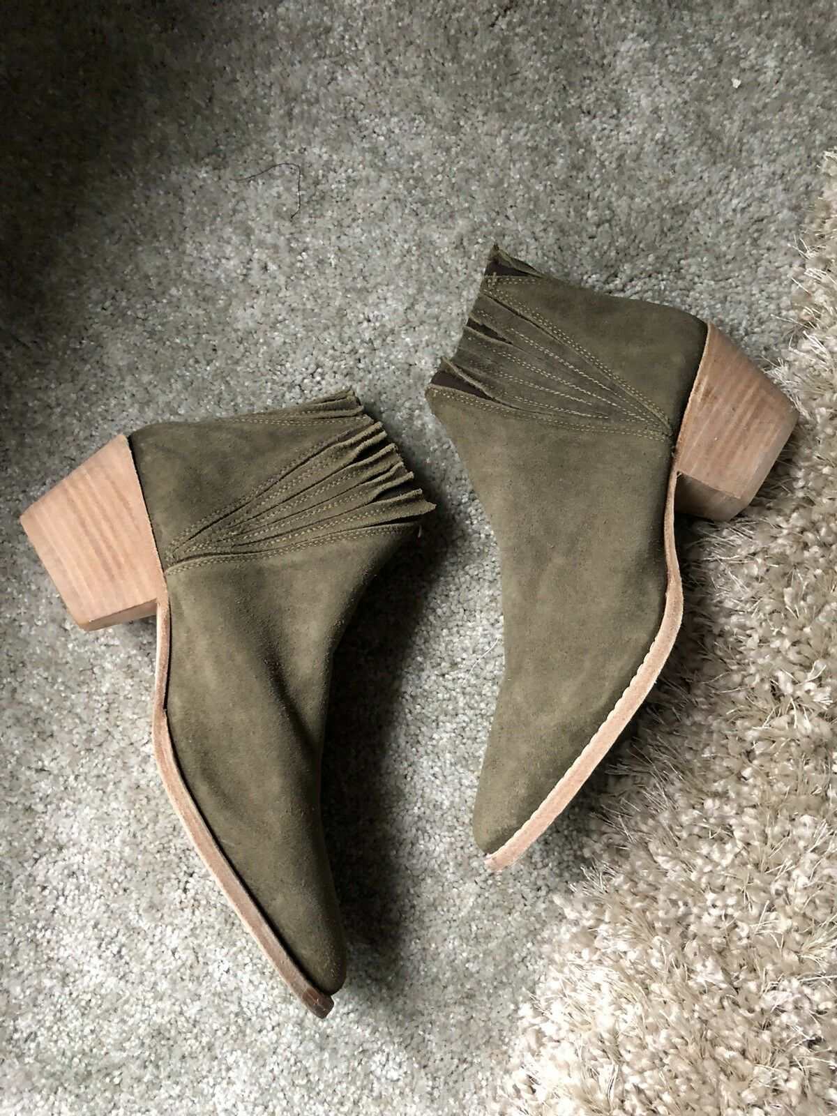 New Free People x Faryl Robin   Trill Ruffle Top Ankle Bootie sz 8