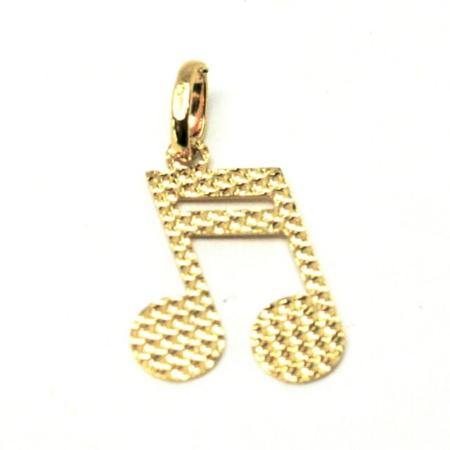 Pendant To Musical Note Gold 18K 750 Music Note Worked