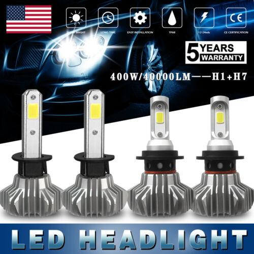 H7+H1 Fanless 400W Combo 40000LM LED Car Headlight 6000K Hi//L Beam Fit Chevrolet