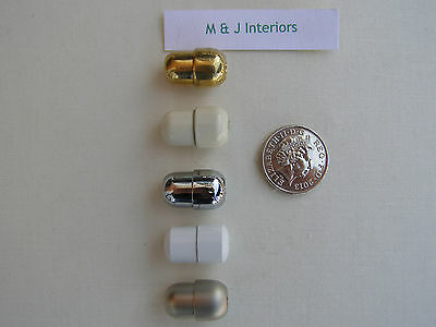 Chrome or Matt Nickel Cord Connector for Roman Blinds//Light Pulls Metal