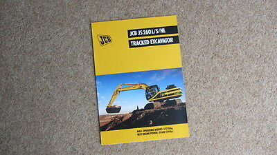 Buy Cheap Jcb Js 260l/s/nl Tracked Hydraulic Excavator Brochure 9999/4487 3/99 Circa 1999 In Pain Business, Office & Industrial