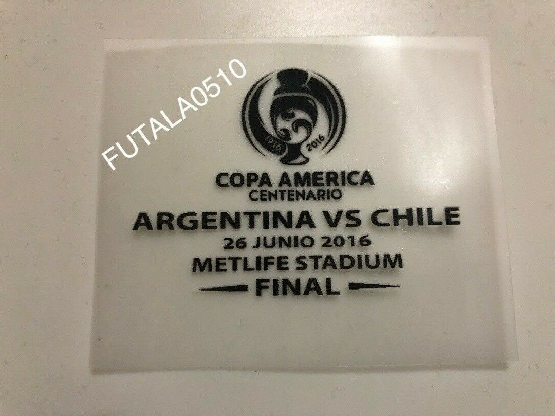 COPA AMERICA Centenario  Authentic FINAL MATCH DATE players issue ARGENTINA