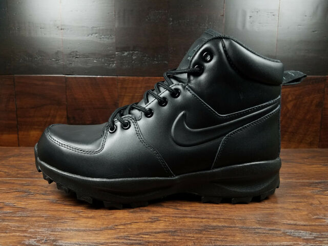 eea22f9a09c Nike Men's Size 9 Manoa Leather Work BOOTS Shoes Black 454350 003