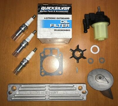 FULL ENGINE SERVICE KIT incl Impeller /& ANODE/'s MERCURY 25HP 30HP EFi Outboard