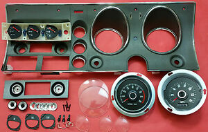FORD-FALCON-XY-GT-HO-COMPLETE-DASH-FACIA-KIT-WITH-BRAND-NEW-140MPH-SPEEDO