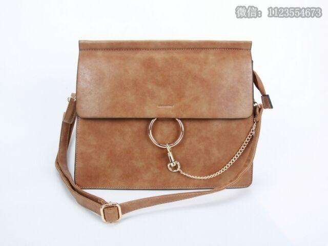 New Ladies Designer Multi Pocket Flap Briefcase Office Bag Satchel With Chain