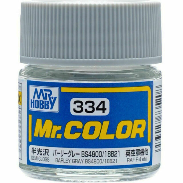 MR HOBBY Color C334 Barley Gray BS4800/18B21 Paint 10ml New For Model Kit