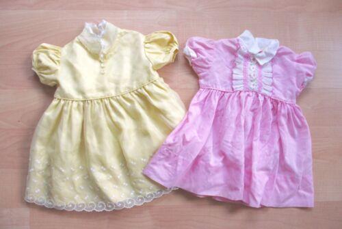 LOT 2 vtg 1950's pink yellow Easter cuties babydol