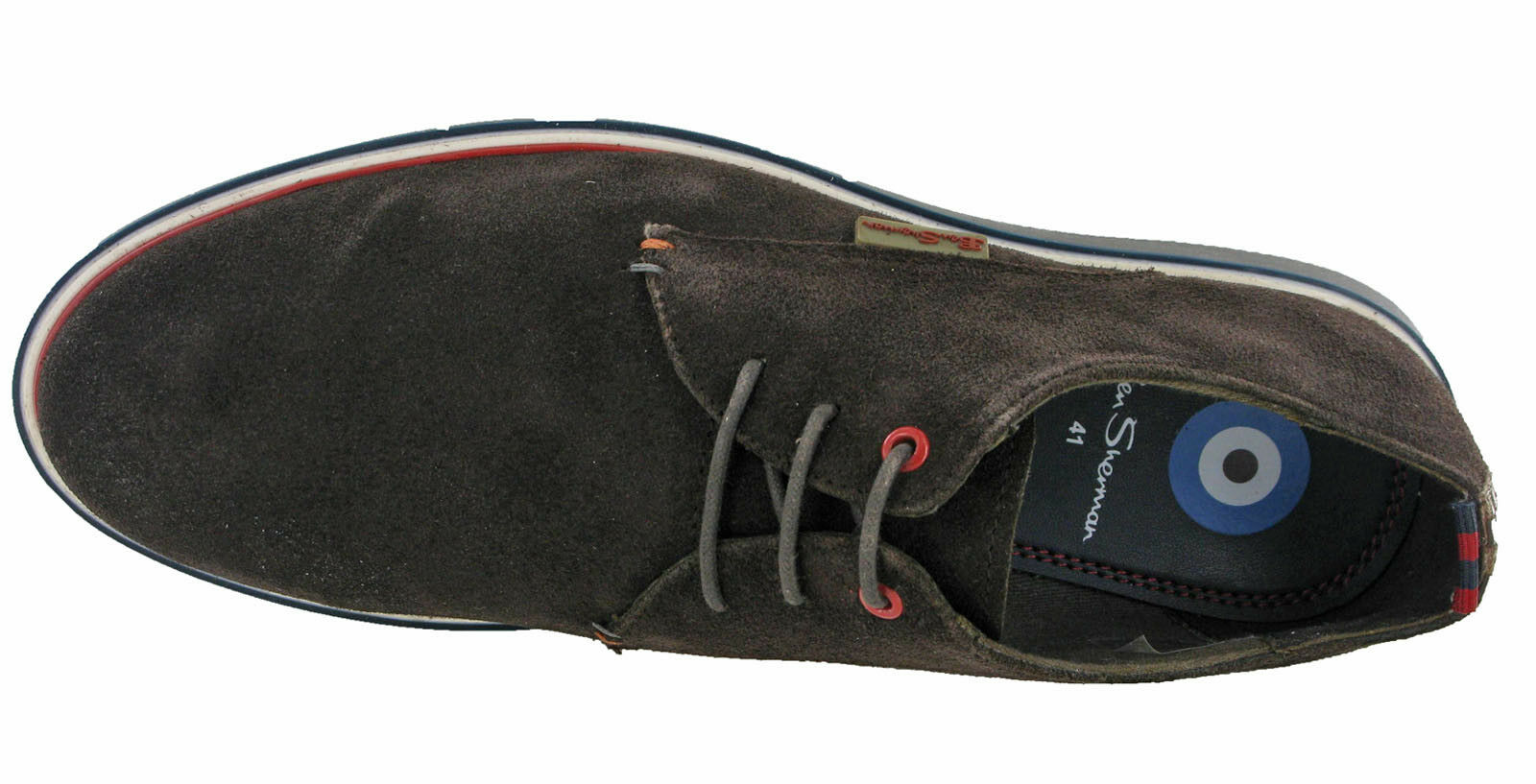 Ben Sherman Casual Schuhes Suede Leder Work Trainers  Uomo Flat Fashion Trainers Work Lace b3d7d7