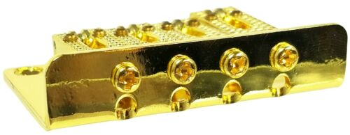 4-string Gold Top//Bottom Loading Roller Style Hard-tail Adjustable Bridge