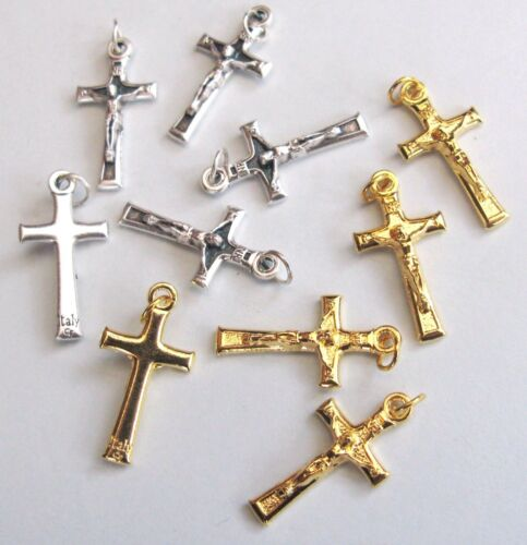 Five 2cm Crucifixes choice of finish