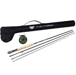Fenwick-Pfleuger-Nighthawk-5WT-Conplete-Fly-Fishing-Rod-Reel-Combo-w-Hard-Case