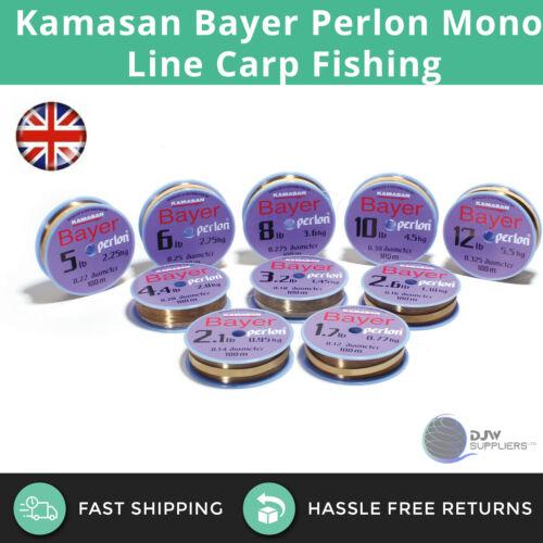 Kamasan Bayer Perlon Mono Line Carp Course Fishing 100m Multiple Strengths Lbs