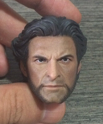 Custom 1/6 Scale Hugh Jackman Wolverine 1.0 Head Sculpt For Hot Toys Figure Body