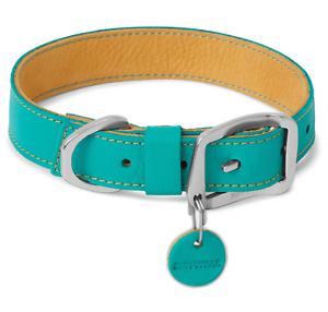 Ruffwear Frisco collar de perro de cuero verde azulado de agua de deshielo Timberline