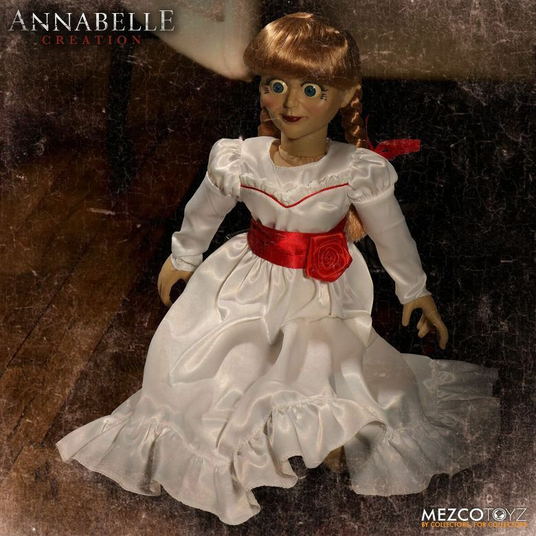 The Conjuring Annabelle Creation Doll 18 Inch by Mezco SLIGHTLY DENTED BOX