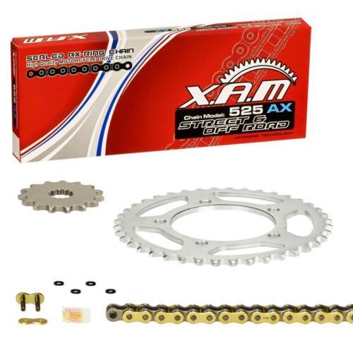10-16 GOLD Kettensatz Yamaha FZ8 //Fazer XAM extra verstärkt RN25