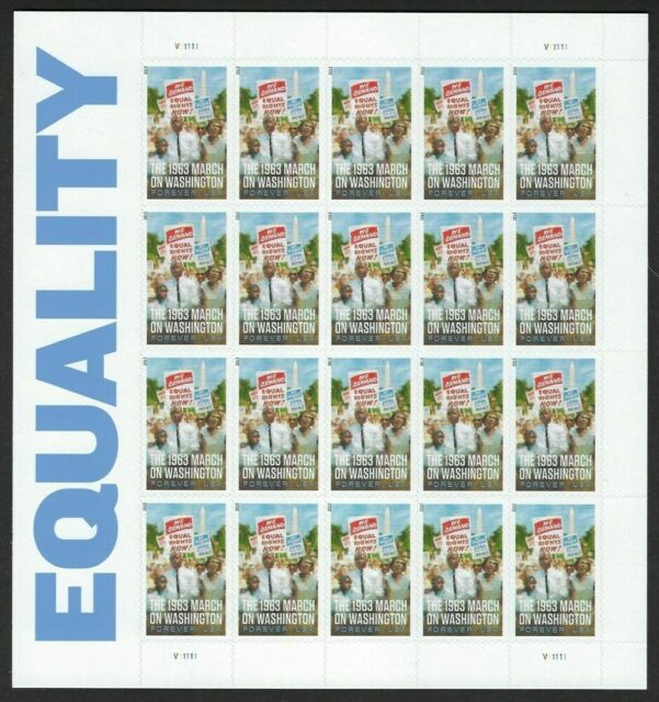 Equality - March of Washington Sheet of 20 Forever Stamps Scott 4804