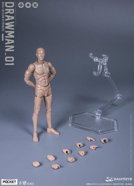 "DAMTOYS DPS01 1/12  Pocket Series Drawman 6"" Flexible Male Figure Body"