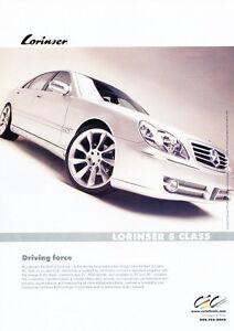 Classic Vintage Advertisement Ad A17-B 2003 Mercedes Benz CLK320 Auto Show