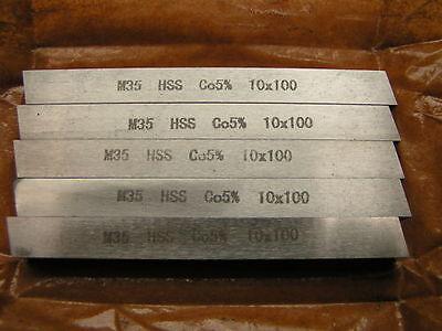 5pcs. x 10mm square M35 HSS Co5% Toolbits x 100mm