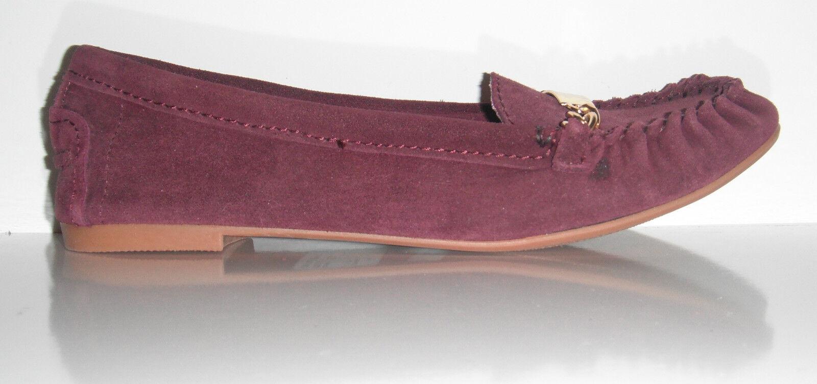 New Steve Madden Damens Meera Burgundy Suede Loafer Slip on Schuhe sz 8.5M